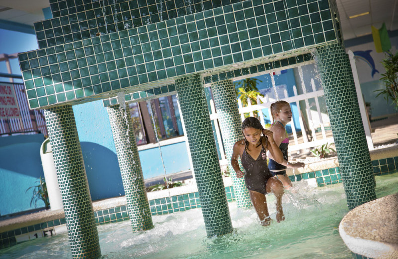 Kids in pool at Landmark Resort.
