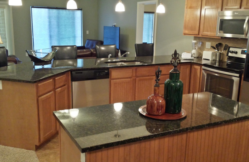 Condo kitchen at Thousand Hills Golf Resort.