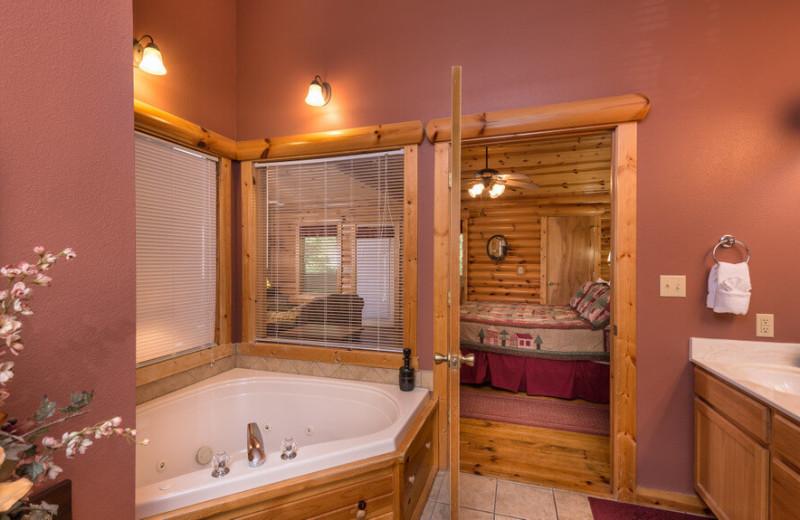 Guest bathroom at Westgate Branson Woods Resort.