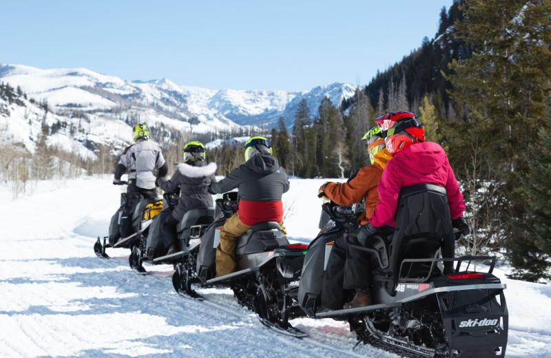 Snowmobiling at Vista Verde Ranch.