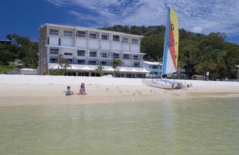 Exterior view of Tangalooma Wild Dolphin Resort.