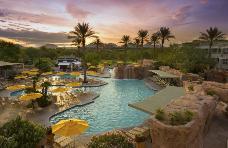 Outdoor pool at Marriott's Canyon Villas.