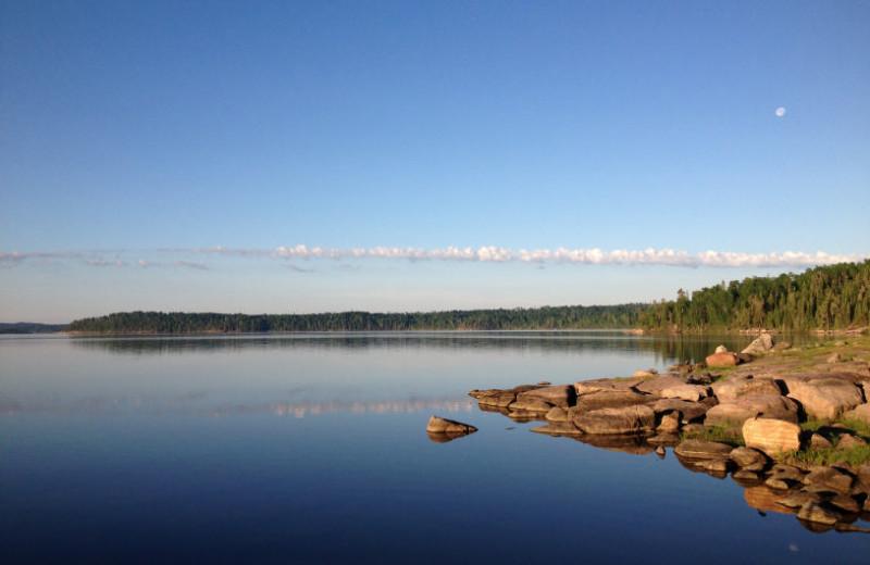 Lake view at Maynard Lake Lodge and Outpost.
