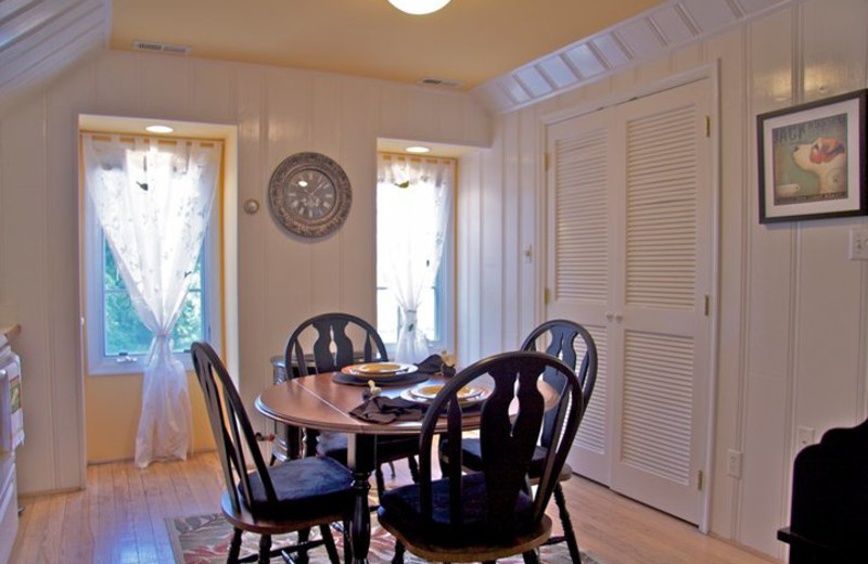 Guest dining room at The Inn at 400 West High.