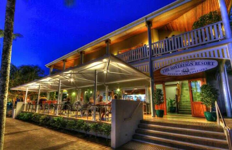Dining at Sovereign Resort Hotel.