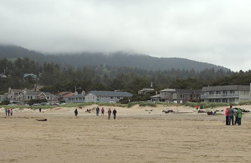 The beach at Manzanita Rental Company.