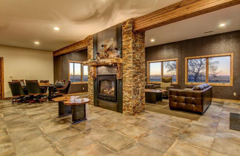 Lodge interior at Double P Ranch.