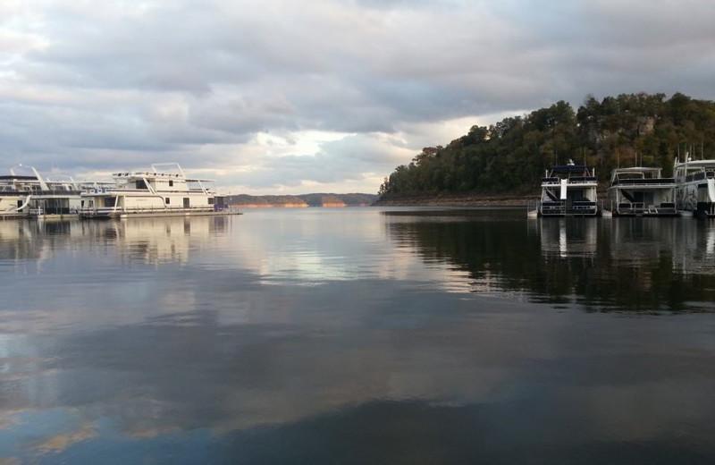 The lake at Jamestown Resort and Marina.