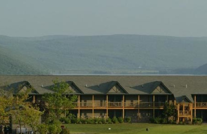 Exterior view of Bristol Harbour Resort.