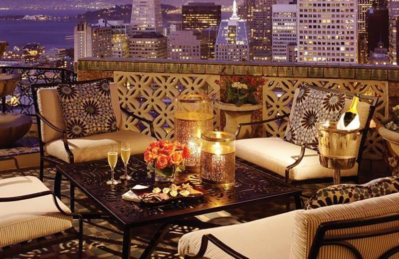 Balcony view at The Fairmont San Francisco.