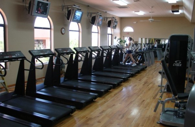 Fitness room at Red Mountain Resort.