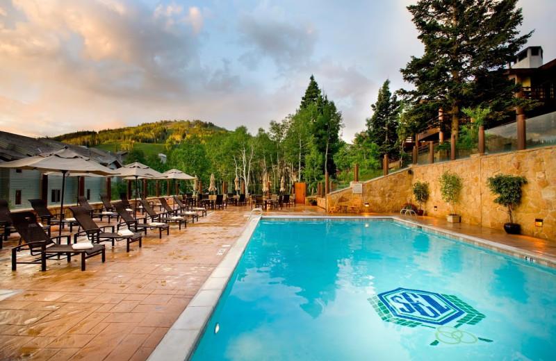 Outdoor pool at Stein Eriksen Lodge.