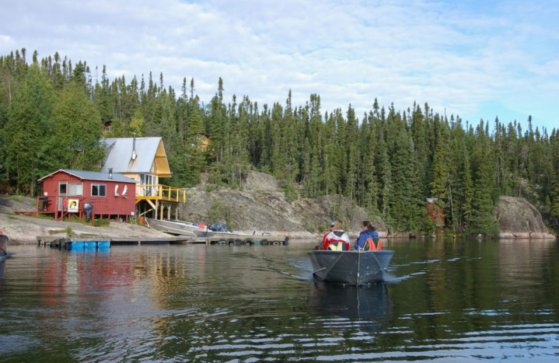 Exterior view of Oliver Lake Wilderness Lodge.