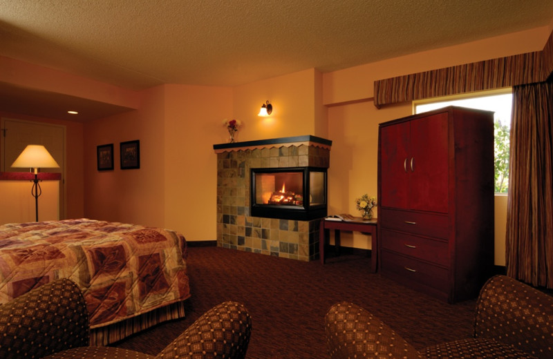 Fireplace guest room at Kah-Nee-Ta Resort and Spa.