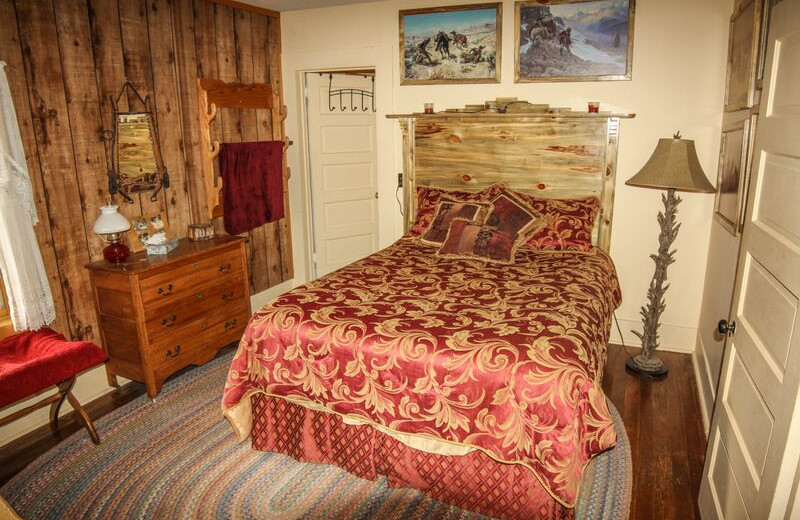 Guest bedroom at Music Meadows Ranch.