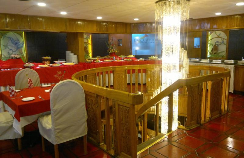 Dining at Hotel Presidente La Paz Bolivia.