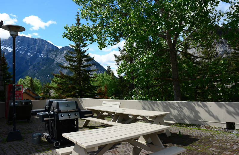 Patio at Tunnel Mountain Resort