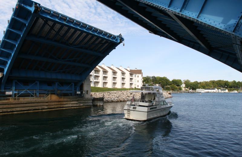 Lift bridge at Edgewater Inn on the Harbor.