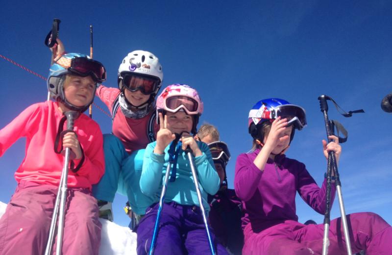 Skiing at Cristiana Guesthaus.