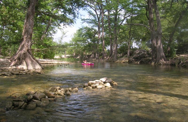 River tubing at Twin Elm Ranch.