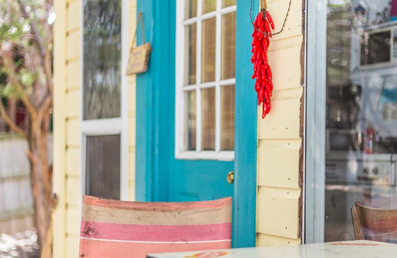 Cabin exterior at Creekside Camp & Cabins.