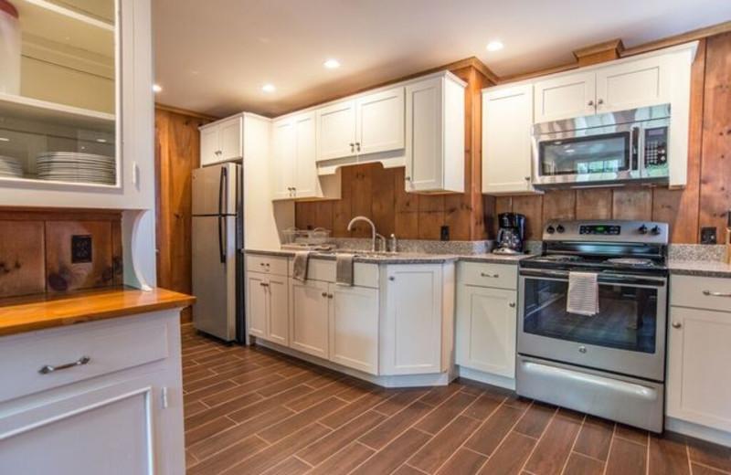 Guest kitchen at Linekin Bay Resort.