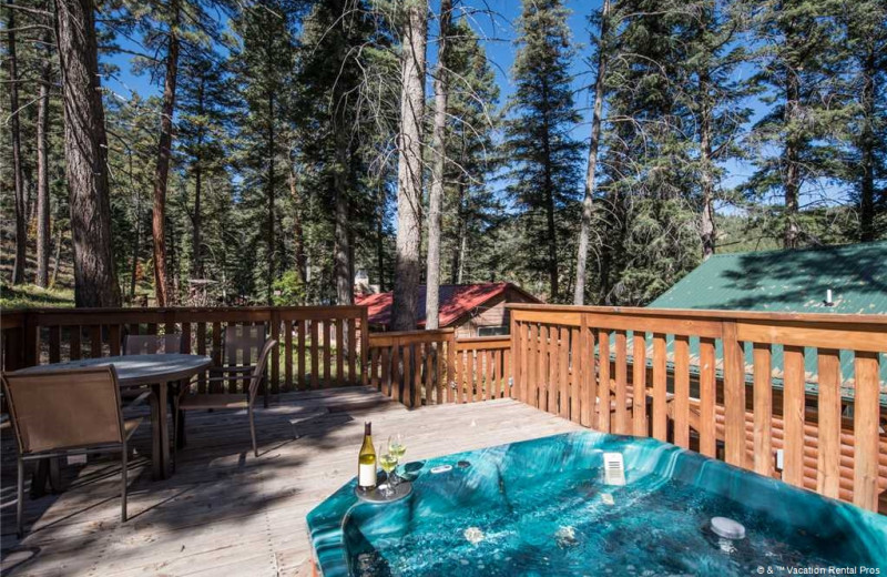 Rental deck at Vacation Rental Pros - Ruidoso.