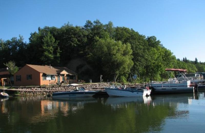 Boat dock at Campfire Bay Resort.
