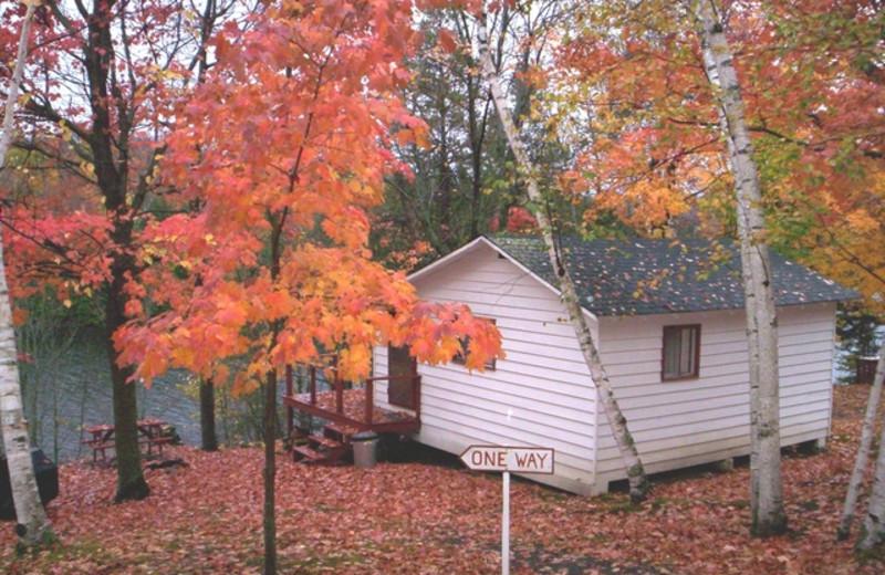 Cottage exterior at Northern Lights Resort.