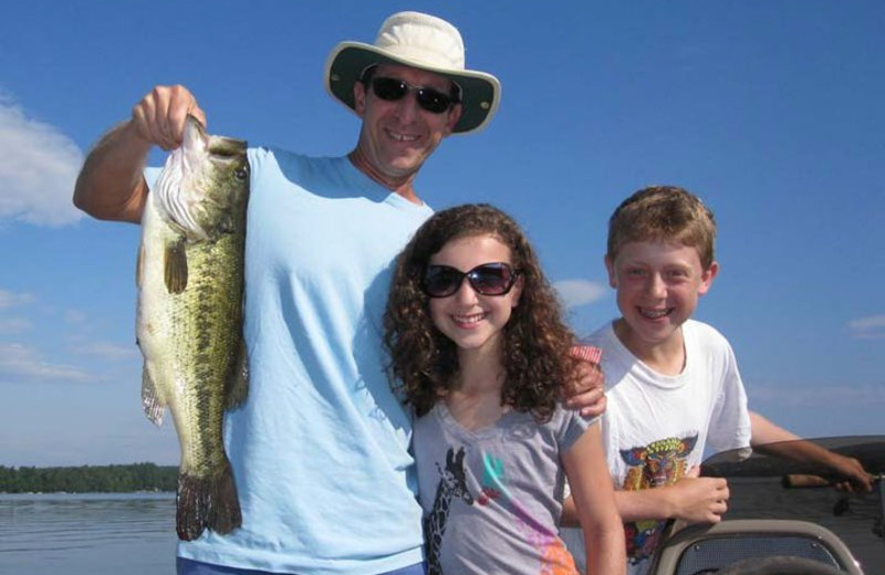 Fishing at Whisperwood Lodge & Cottages.