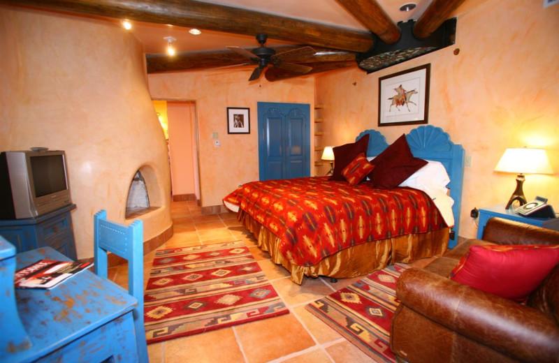 Taos Pueblo Room at Inn on La Loma Plaza.