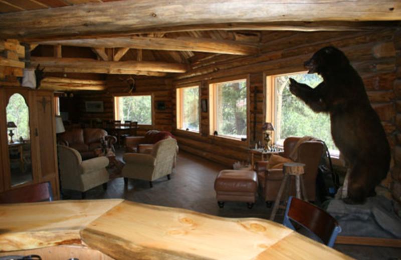 Lounge at Ts'yl-os Park Lodge.