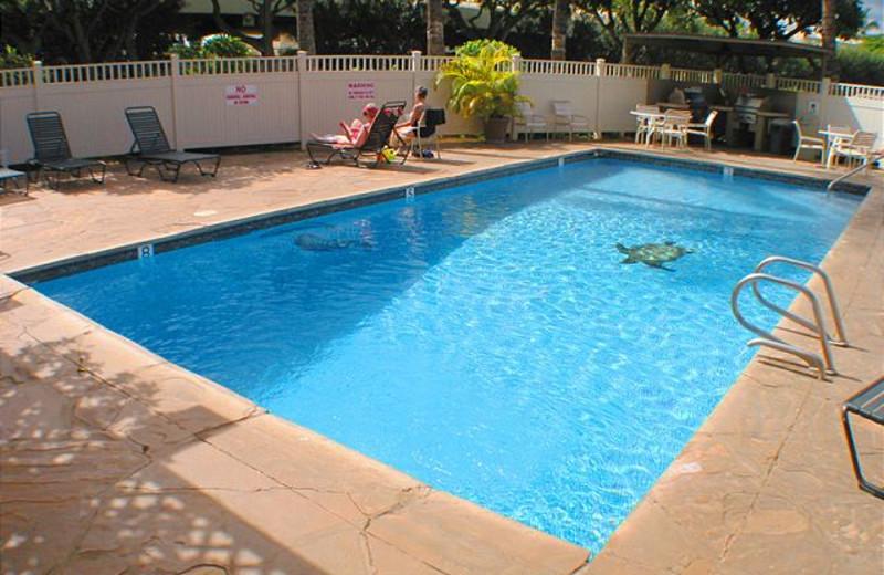 Outdoor pool at Maui Vacation Rentals.