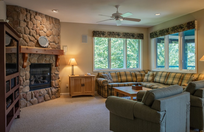 Guest living room at Smugglers' Notch Resort.