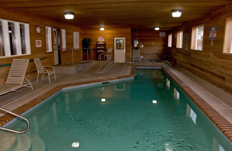 Indoor pool at The Garibaldi House Inn.