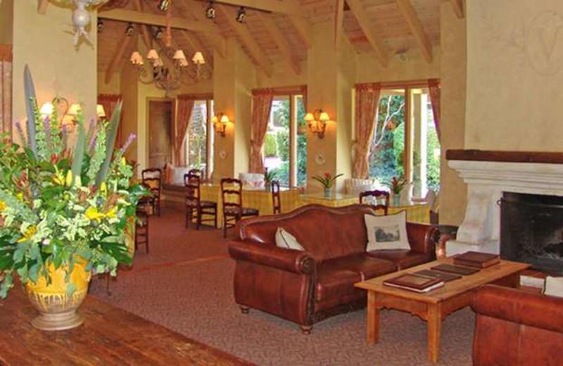 Lobby area at Vintage Inn.