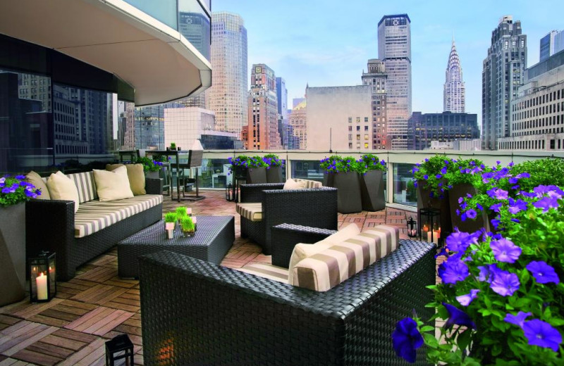 Private terrace at Sofitel New York.