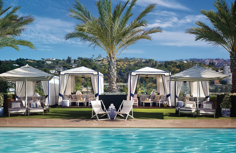 Outdoor pool at The London West Hollywood.