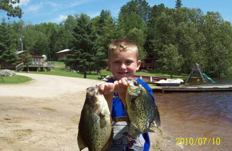 Fishing at Trails End Resort.