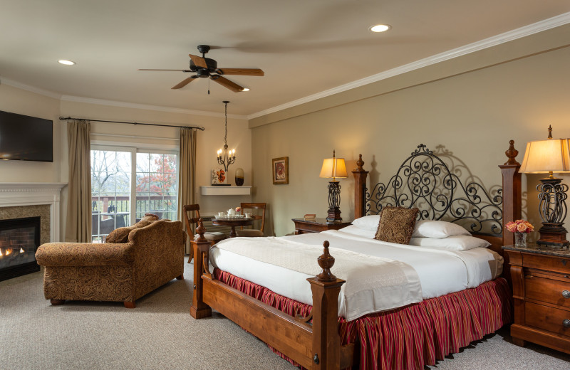 Guest room at The French Manor Inn and Spa.