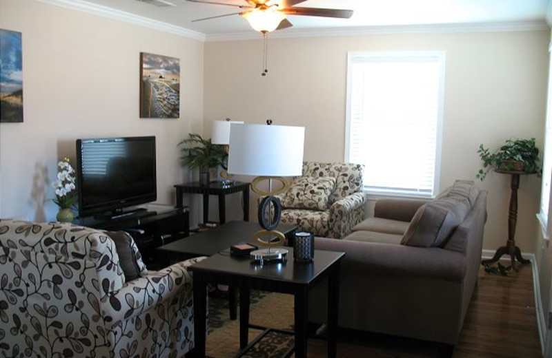 Rental living room at The House Company.