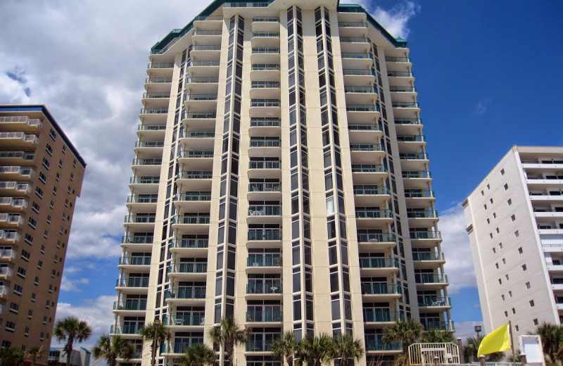 Exterior view of Jade East Towers.