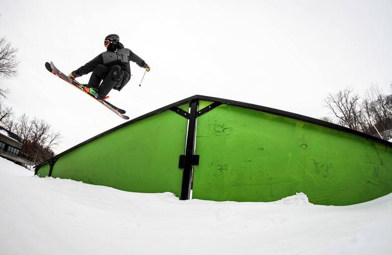 Snowboarding at Devils Head Resort & Convention Center.