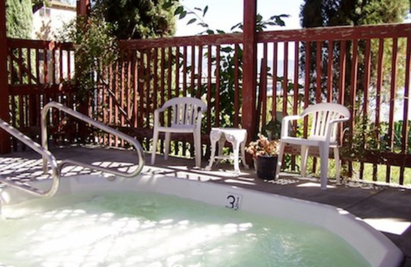 Jacuzzi at Mallard House Inn.