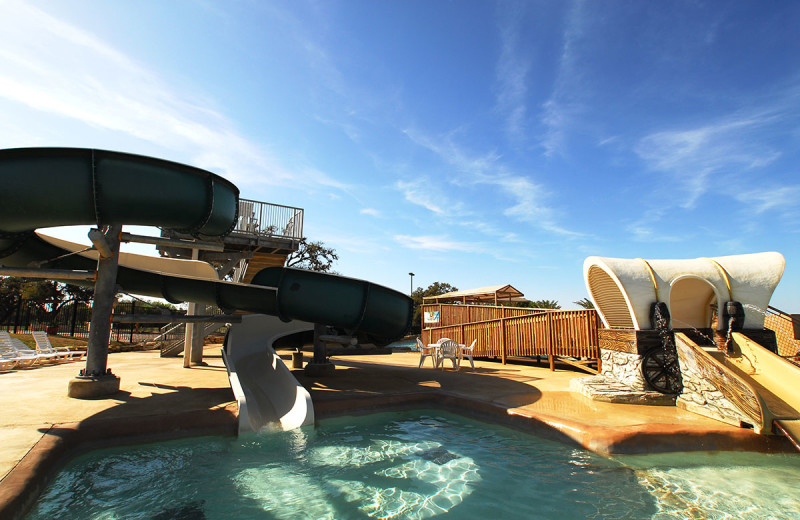 Water slides at Flying L Hill Country Resort & Conference Center.