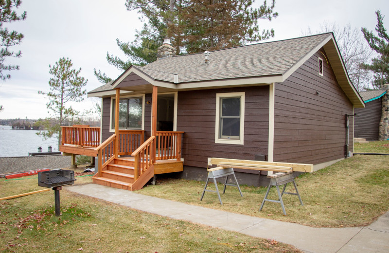 Cabin exterior at Cragun's Resort and Hotel on Gull Lake.