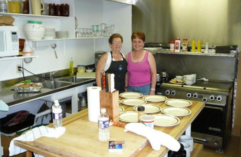 Lodge kitchen at Uchi Lake Lodge.