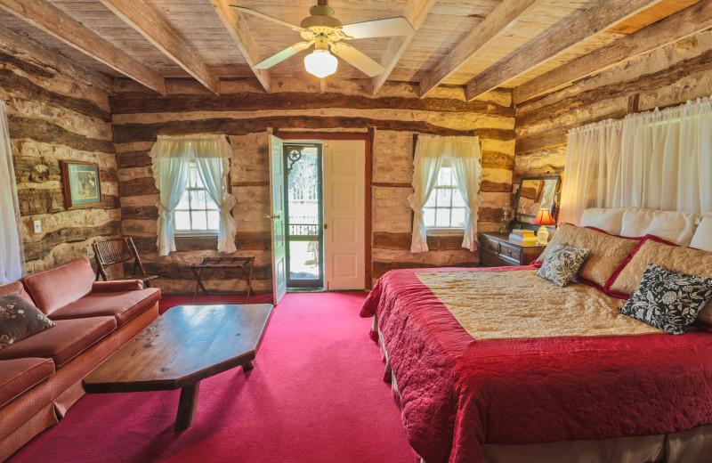 Guest room at Luckenbach Inn B&B.