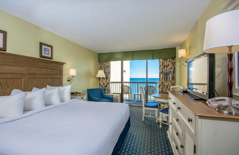 Guest room at Ocean Reef Resort.