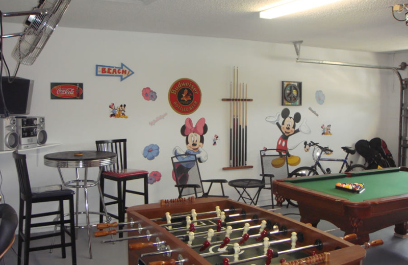 Rental game room at Sunkiss Villas.